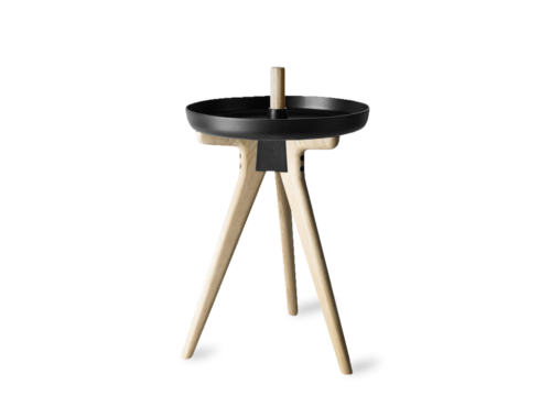 Flip Around Side Table/Stool, Light Ash-0