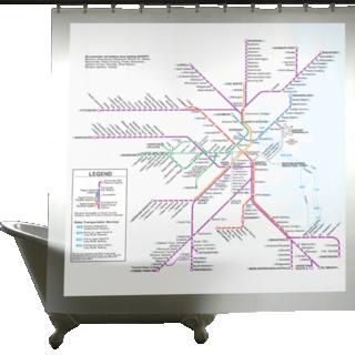 Map Series Shower Curtains, Boston Transit-0