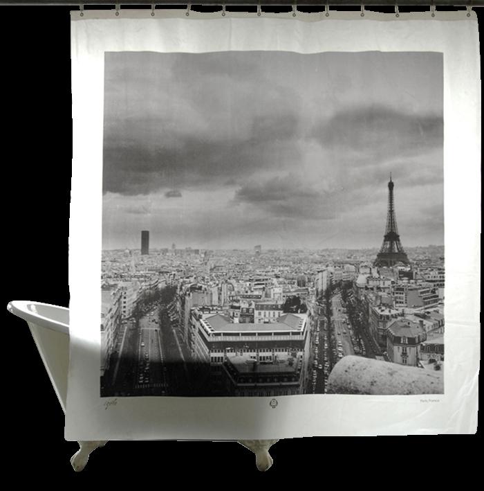 World Destinations Shower Curtains, Paris-0