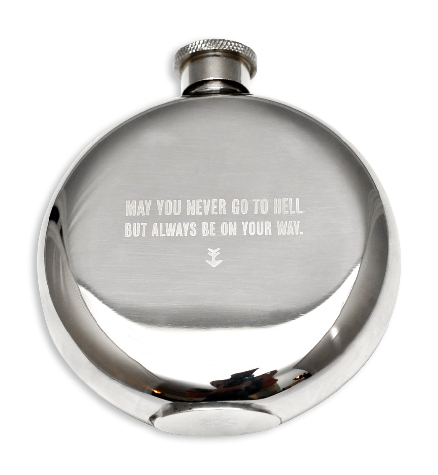 May You Never Go to Hell 5 Oz Flask-0