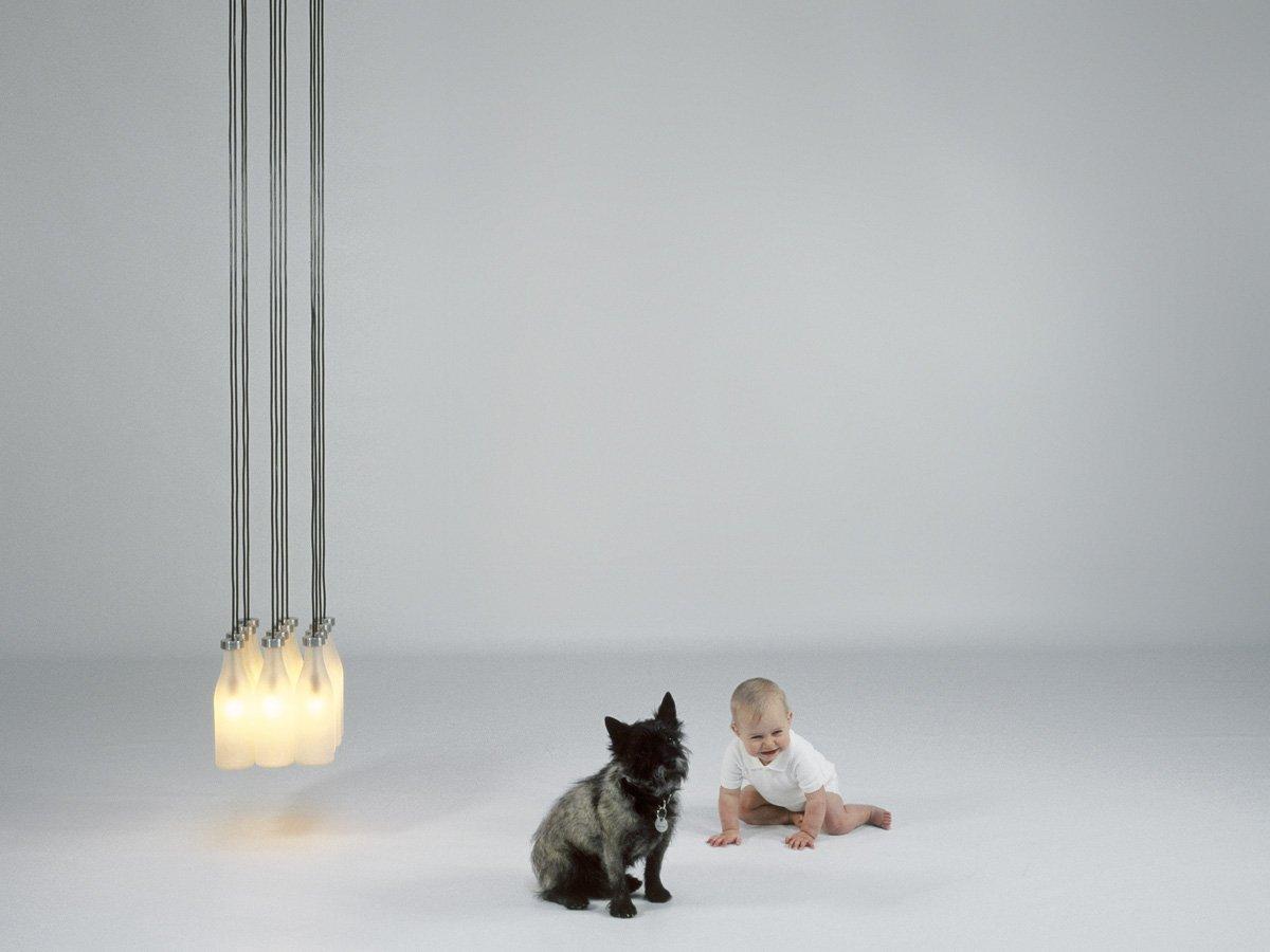 Milk Bottle Lamp-22625