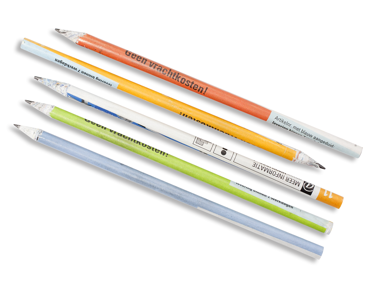 Paper Pencils, Set of 5-0
