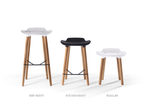 Pilot Stool by Quinze & Milan, White-34272