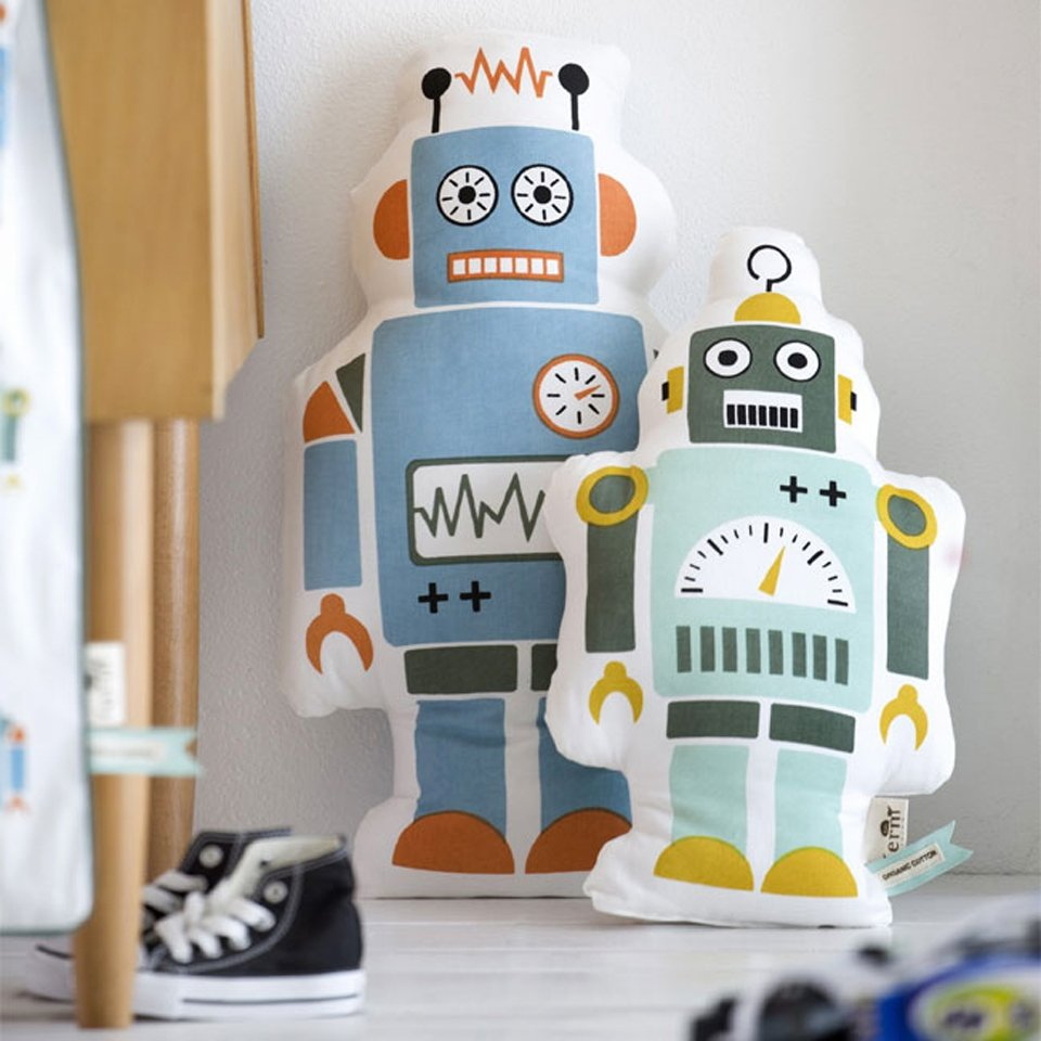 Robot Decorative Pillows by Ferm Living-22736