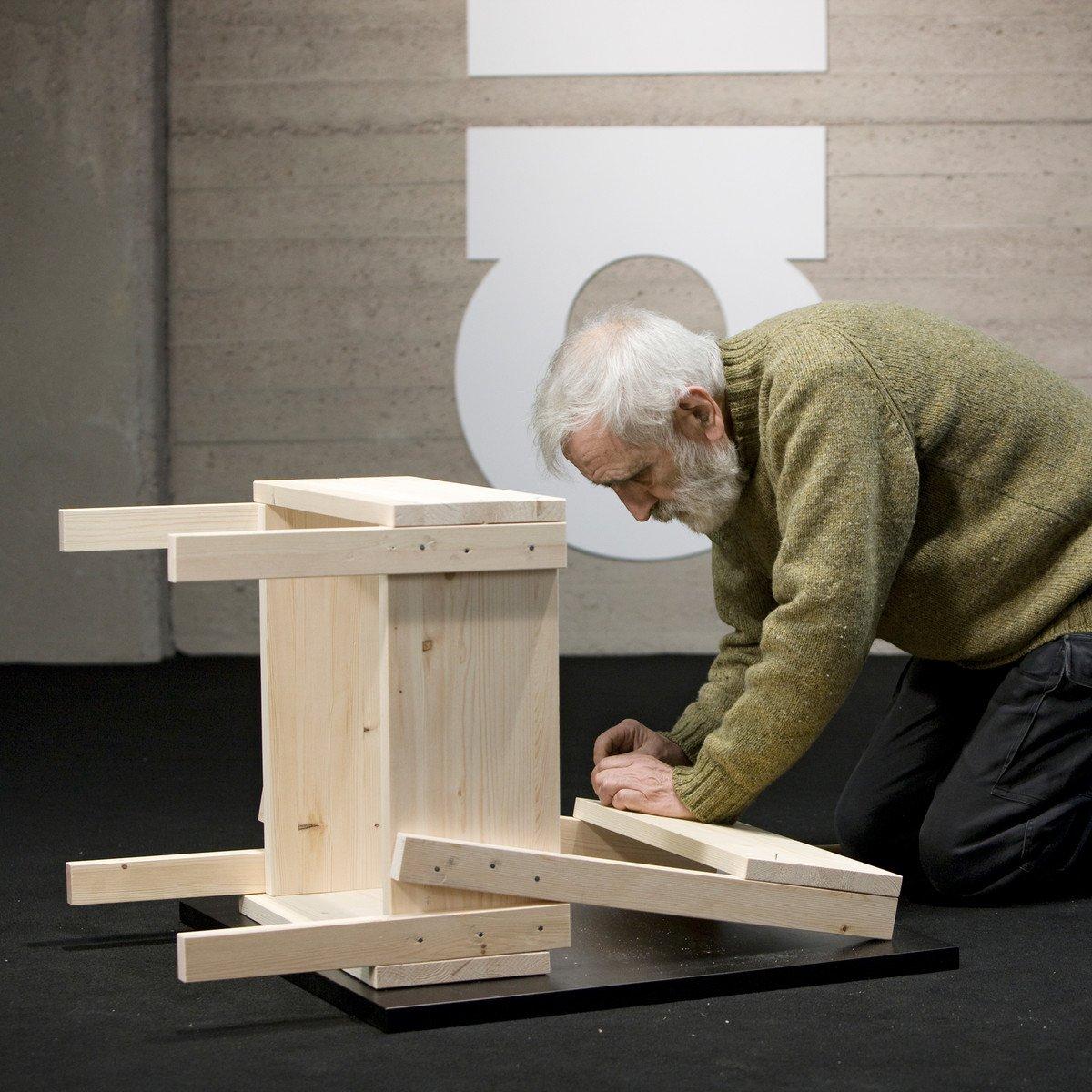 sedia 1 by enzo mari artek gessato. Black Bedroom Furniture Sets. Home Design Ideas