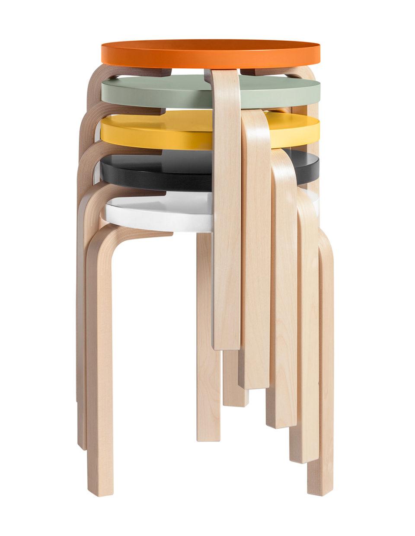 Stool 60 by Alvar Aalto-23731