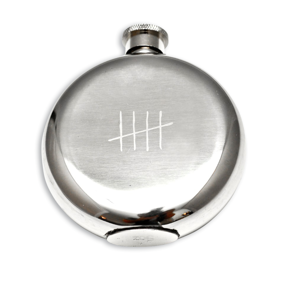 Tick Marks 5 Oz Flask-0