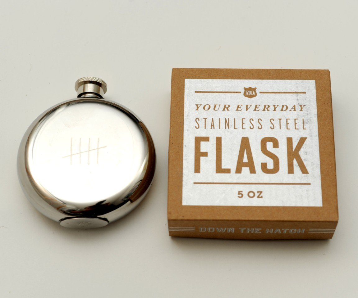 Tick Marks 5 Oz Flask-19862
