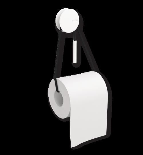 Diabolo Toilet Paper Holder, White-0