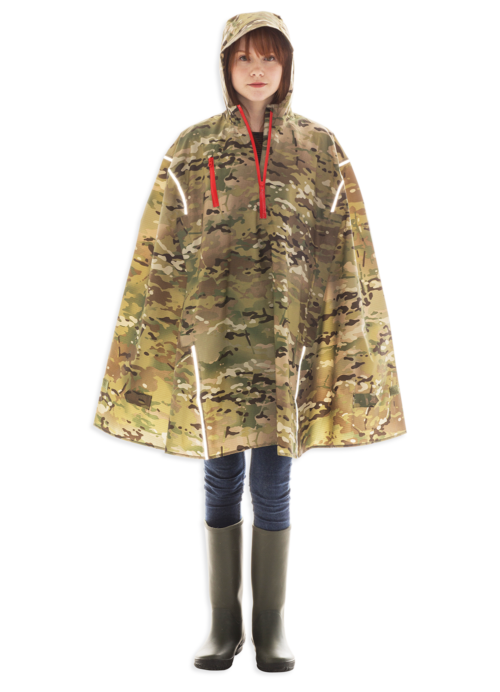 Weetamoe Camo, High-Performance Rain Cape by Cleverhood-0