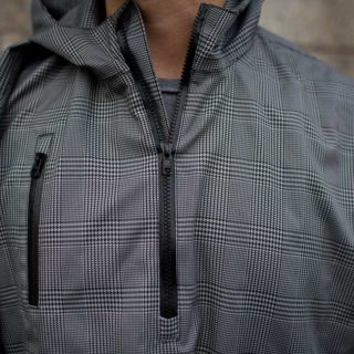 Electric Houndstooth, High-Performance Rain Cape by Cleverhood-22269