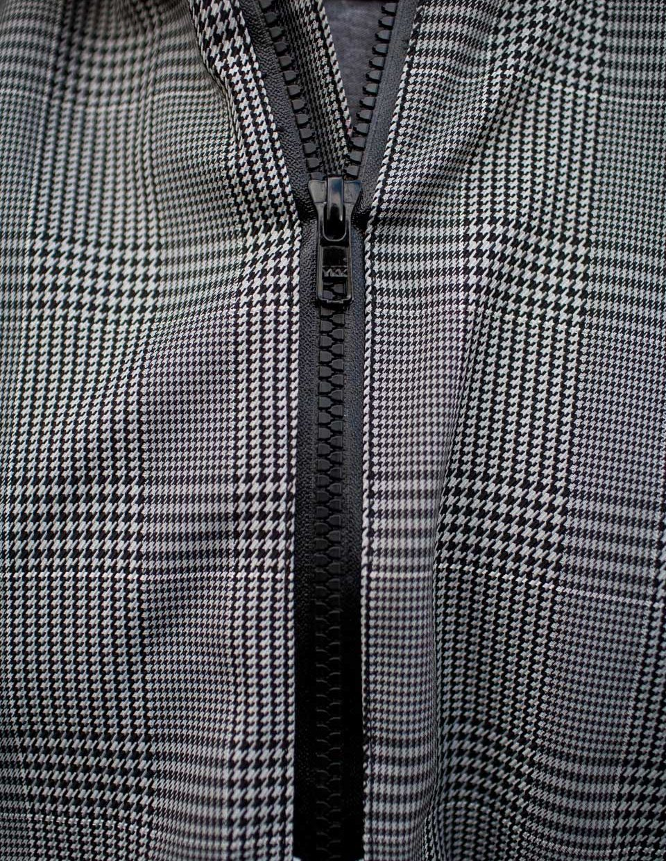 Electric Houndstooth, High-Performance Rain Cape by Cleverhood-22267