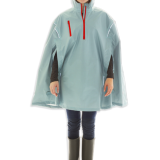 Ocean State Blue, High-Performance Rain Cape by Cleverhood-0