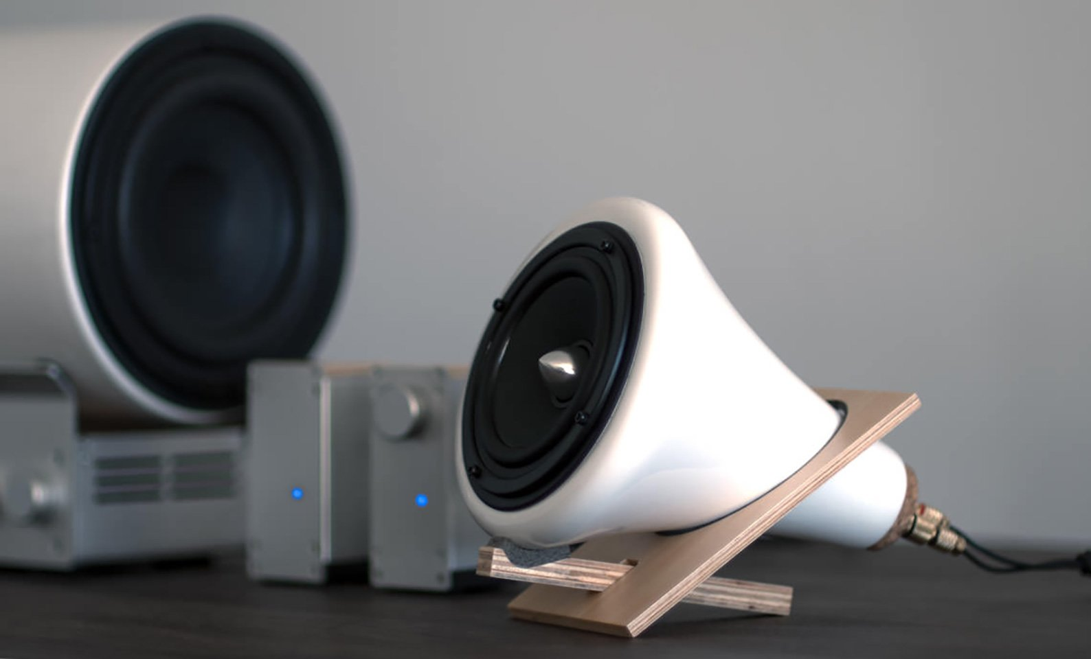Ceramic Subwoofer & Amplifier by Joey Roth - Gessato