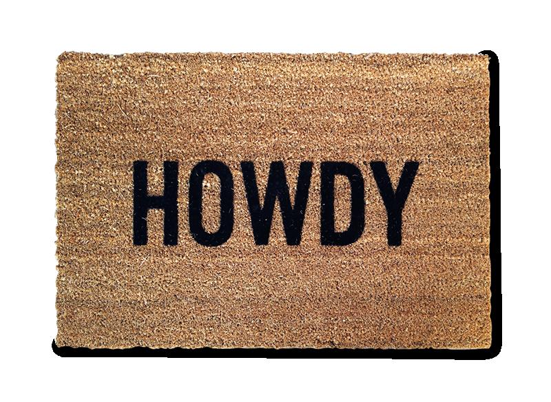 Howdy Doormat-0