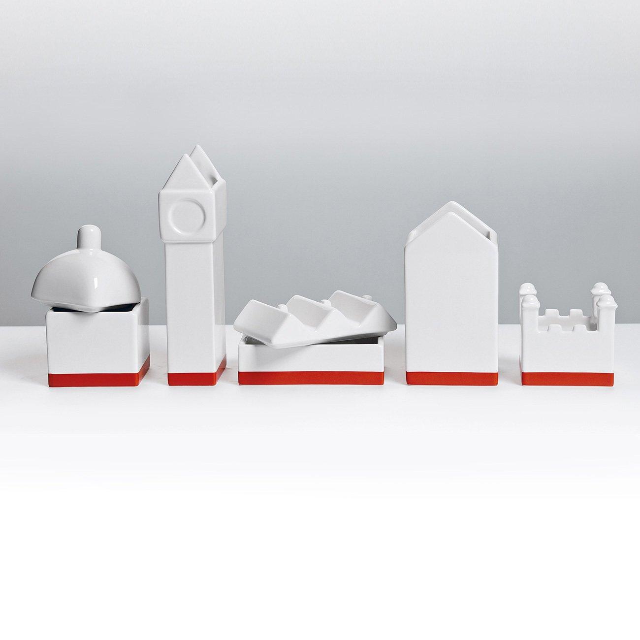 The City Porcelain Desk Organizer-24551