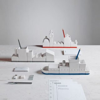 The Ship Porcelain Desk Organizer-24564