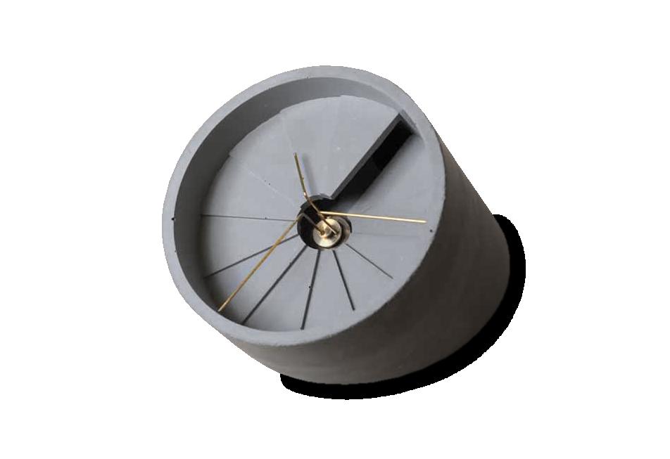 4th Dimension Concrete Desk Clock