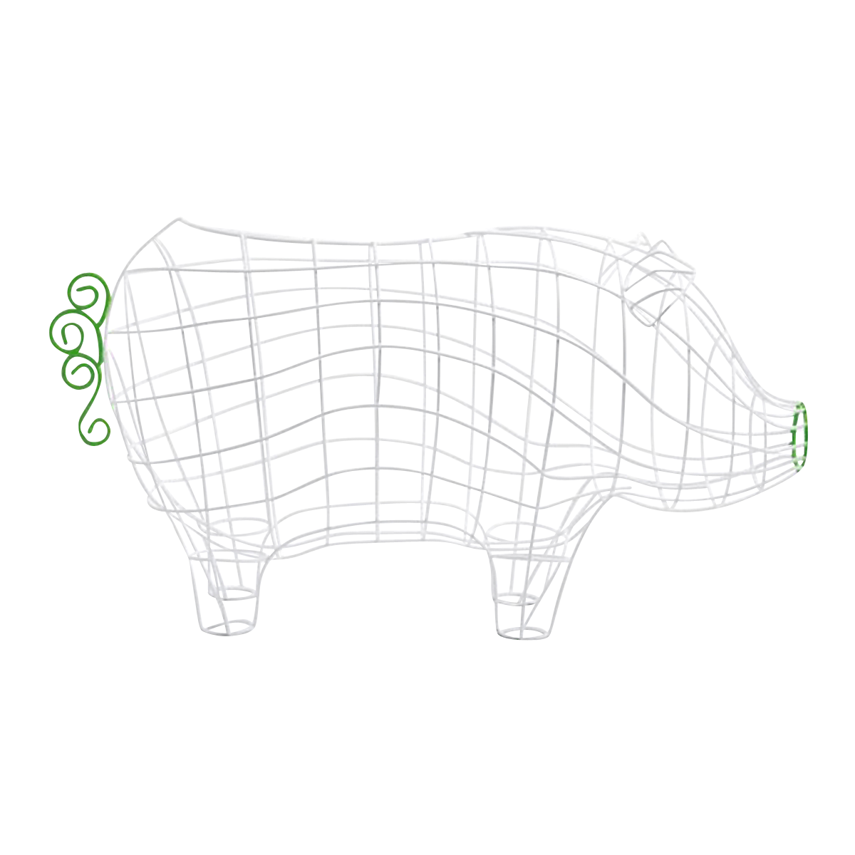 Pig Wire Basket by Alessandro Zambelli for Seletti -0