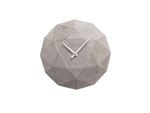Cairo, Diamond Shaped Concrete Wall Clock -0
