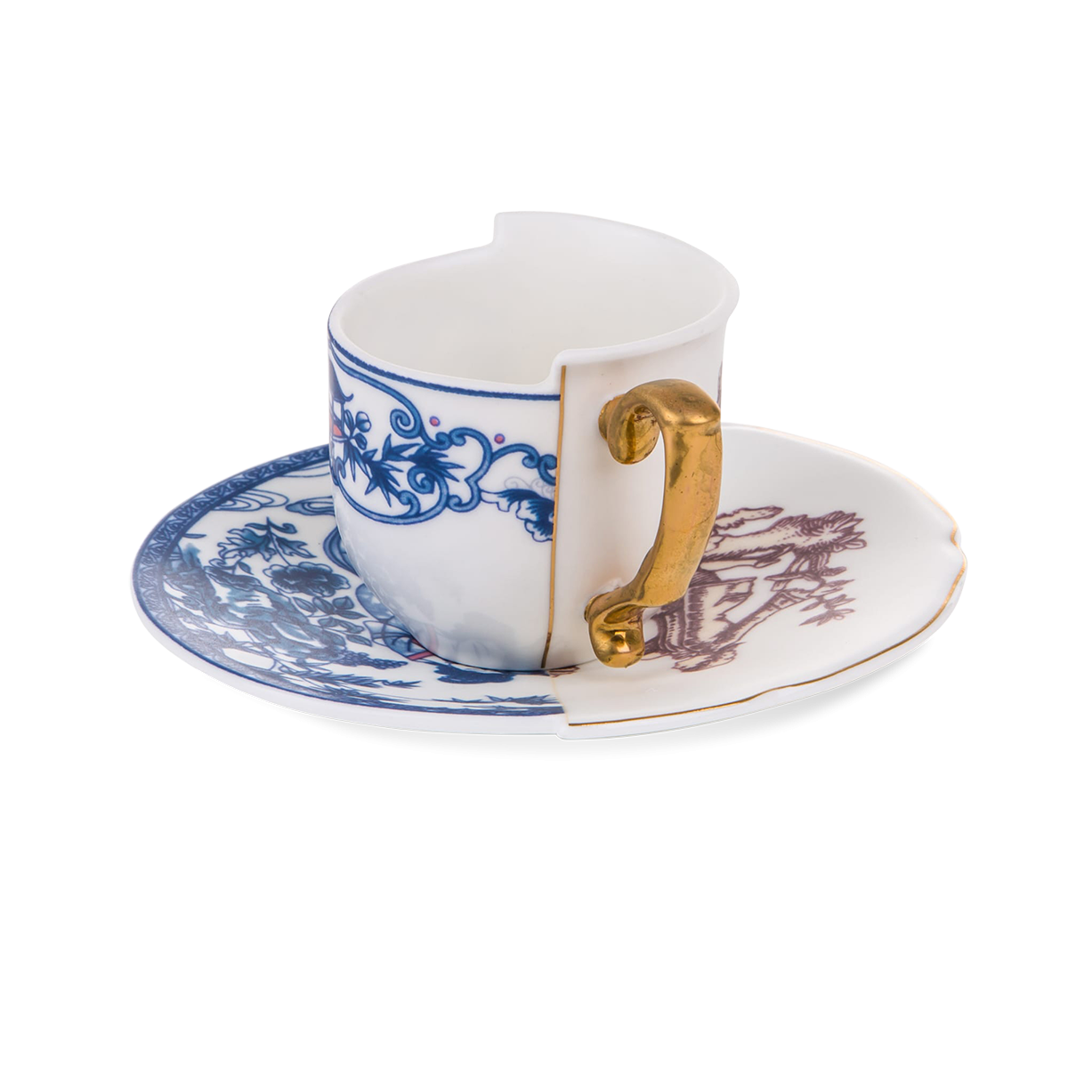 Seletti Hybrid Collection, Eufemia Coffee Cup & Saucer-0