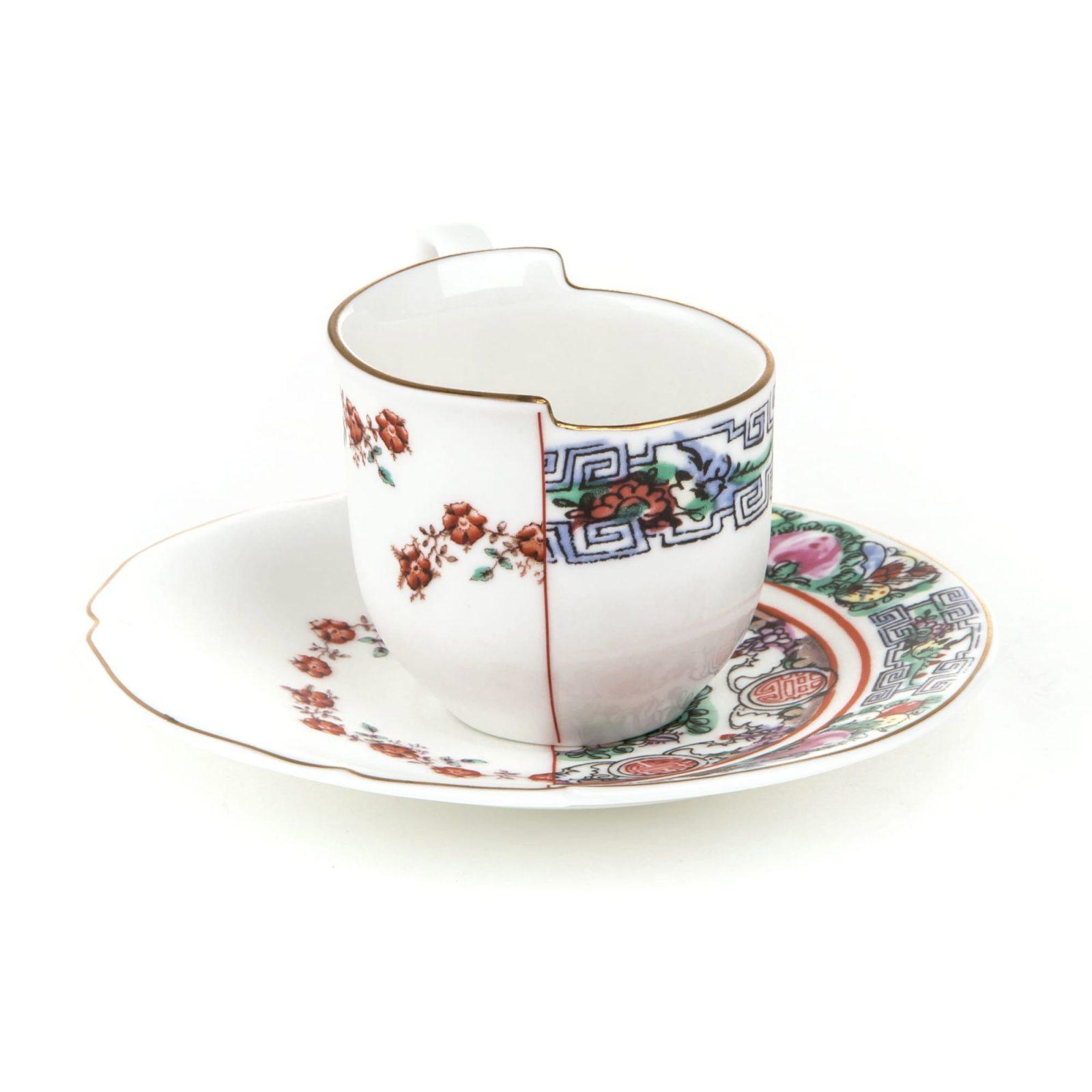 Seletti Hybrid Collection, Tamara Coffee Cup & Saucer-32045