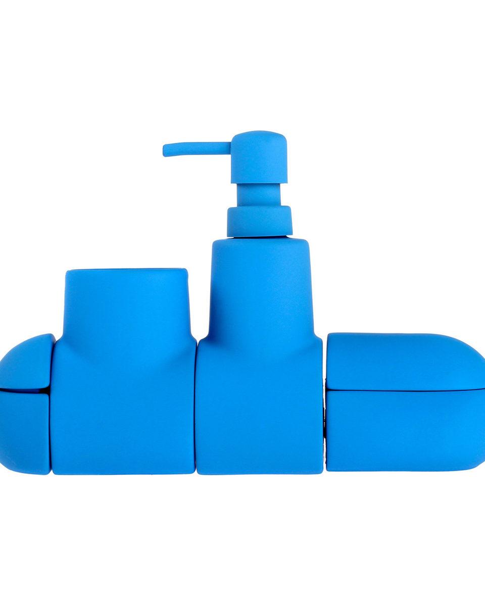 Submarino Bath Set, Blue-24549