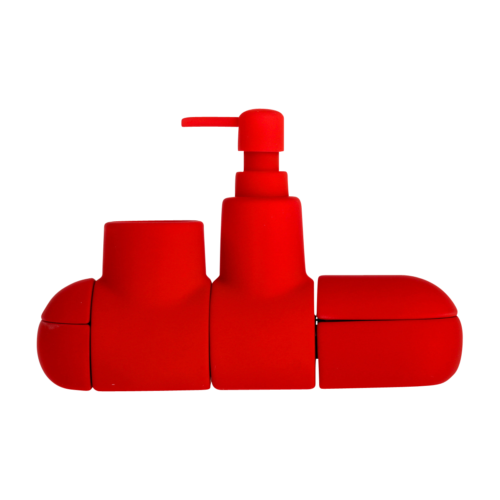Submarino Bath Set, Red-0