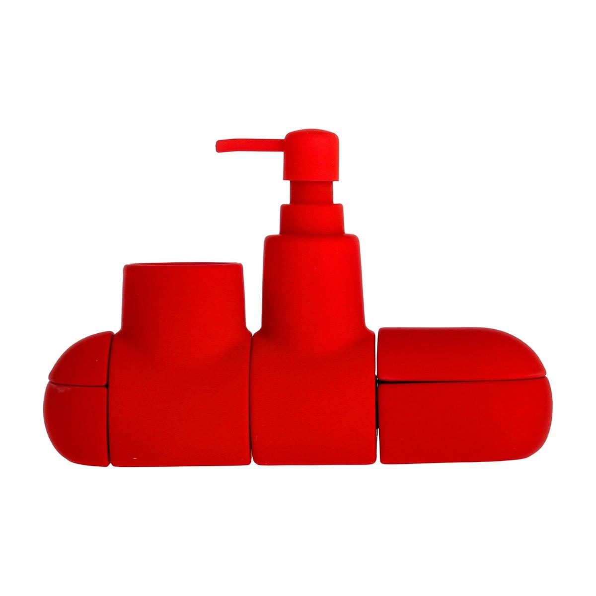 Submarino Bath Set Red 24539
