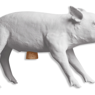 Reality Bank in the Form of a Pig by Areaware - Matte White-0