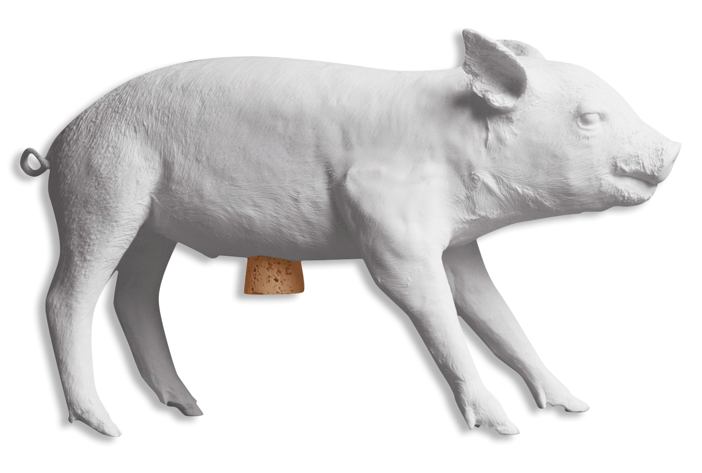 Reality Bank in the Form of a Pig by Areaware – Matte White-0