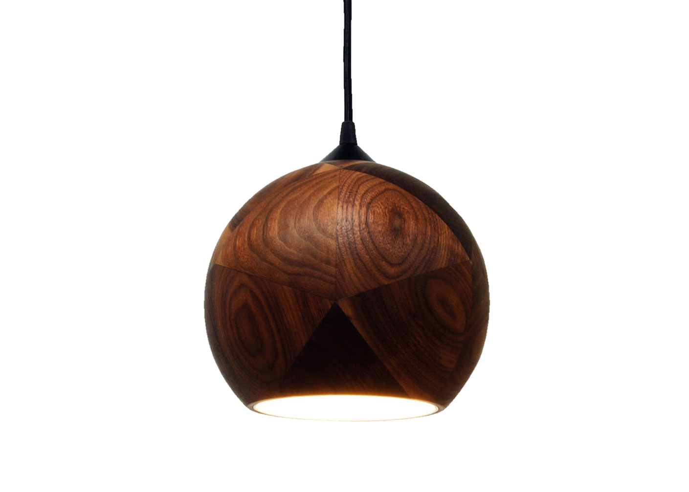 Dark + Stormy, Walnut Pendant Light -0