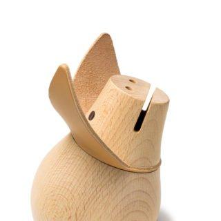Miss Monnipenni, Wood Piggy Bank -25717