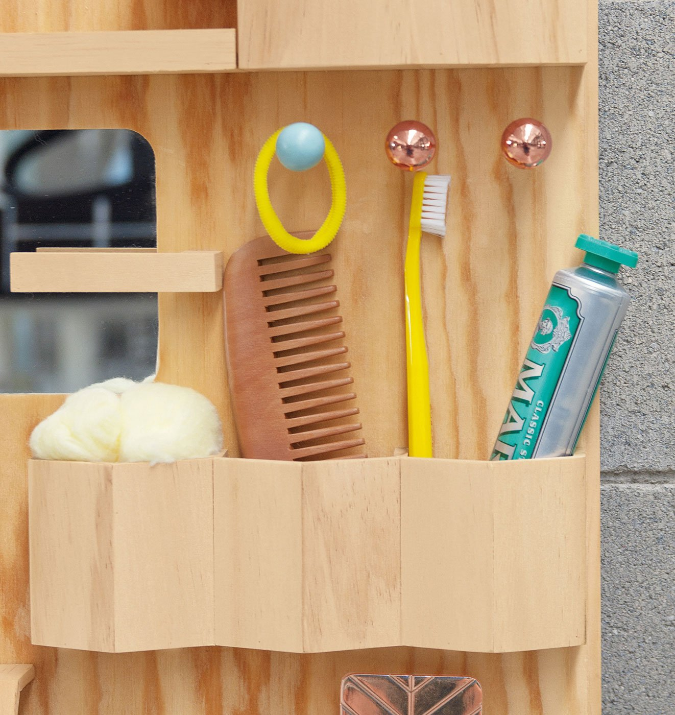 Suburbia Wall Storage by Seletti, Natural-25402