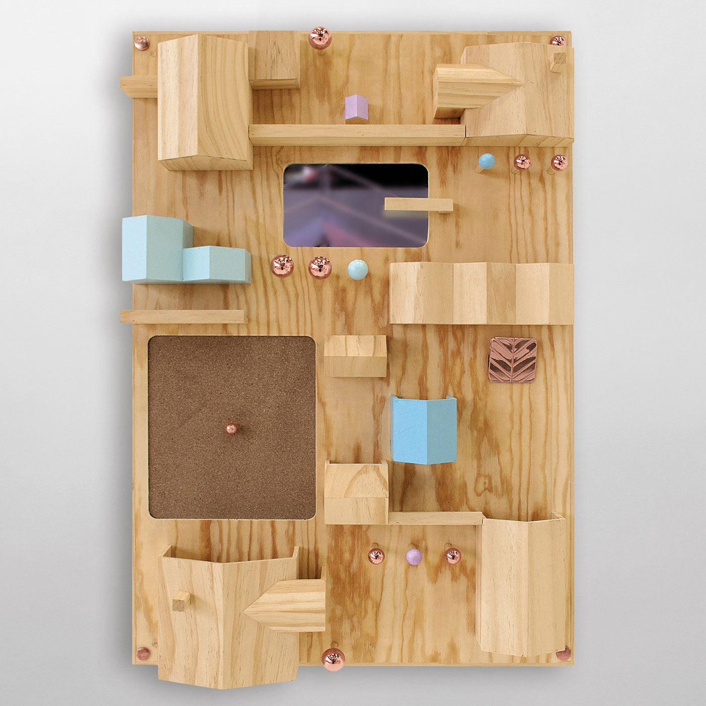 Suburbia Wall Storage by Seletti, Natural-25392