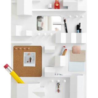 Suburbia Wall Storage by Seletti, White-25398