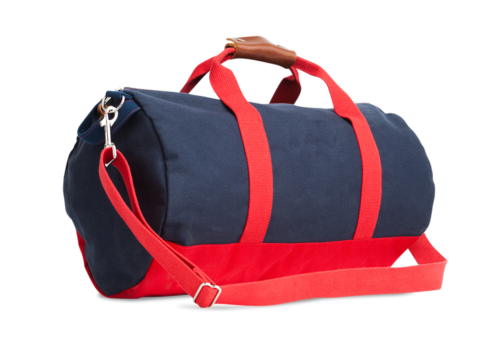 """Work Hard, Play Hard"" Duffel - Navy-0"