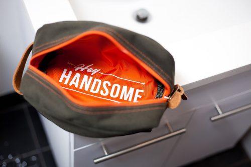 Hey Handsome Shaving Kit Bag - Army Green-26052