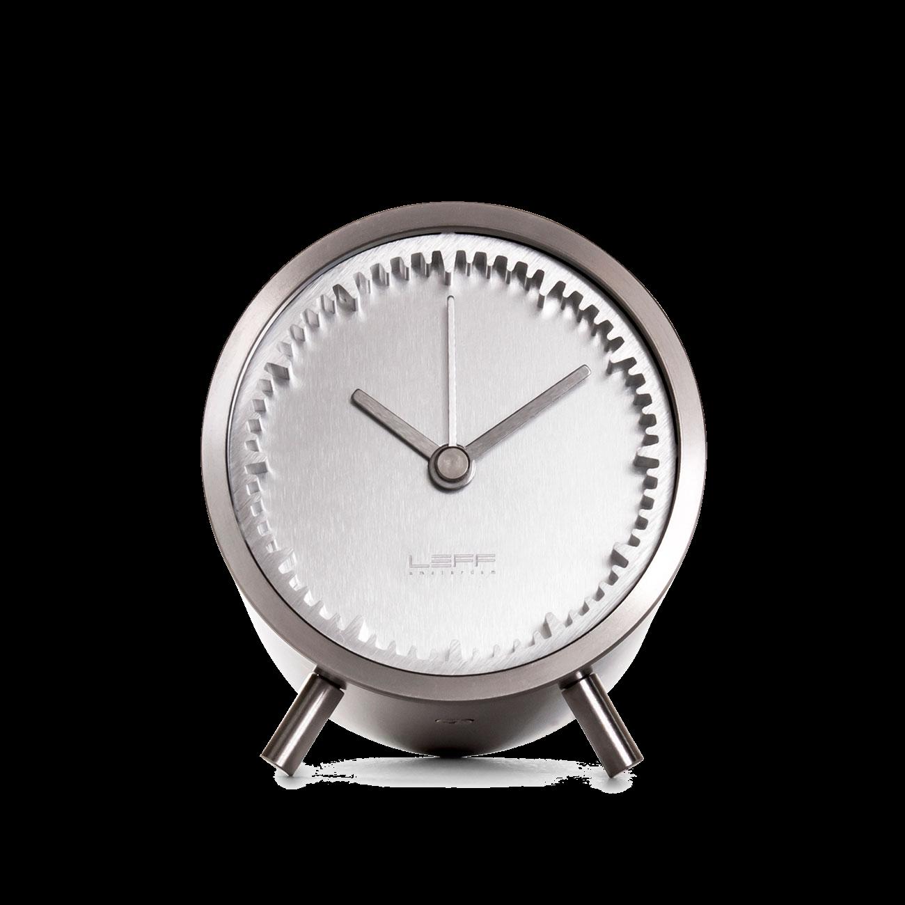 Leff Amsterdam & Piet Hein Eek's Tube Clock, Stainless Steel-0