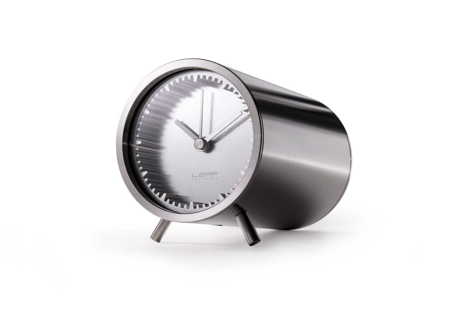 Leff Amsterdam & Piet Hein Eek's Tube Clock, Stainless Steel-26712