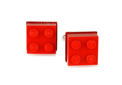 Lego Cufflinks, Red-0