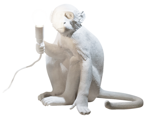 Seletti Monkey Lamp, Sitting -0