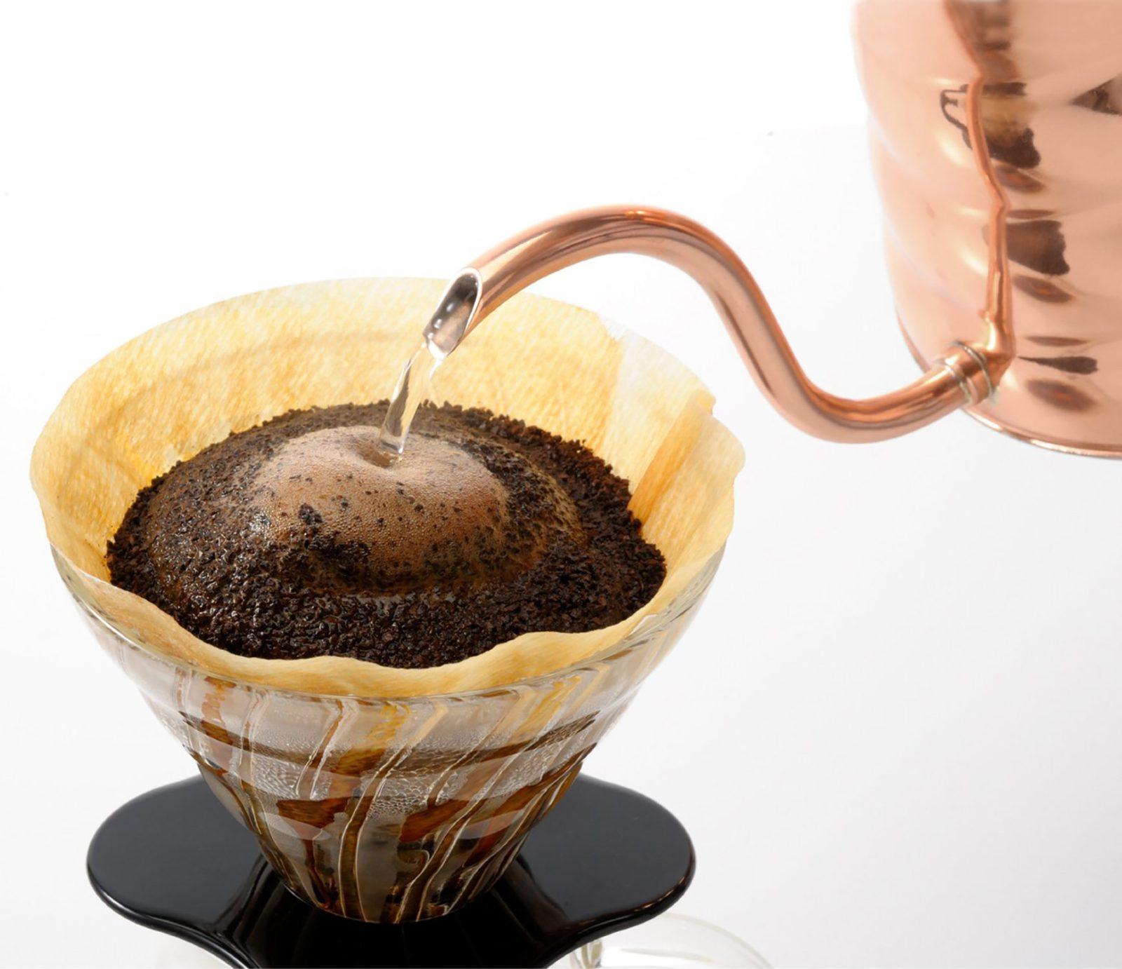 Hario Buono Coffee Drip V60 Kettle, Copper-28392