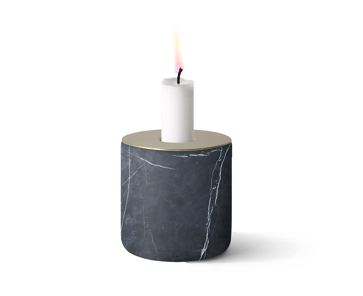 Chunk of Marble Candleholder -0