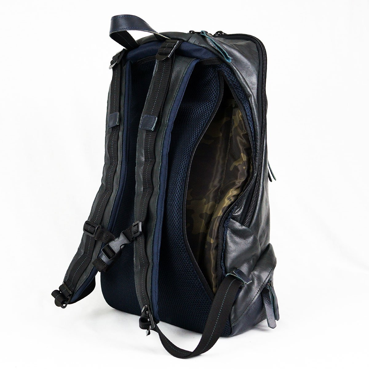 Leather Bomber Backpack Gessato