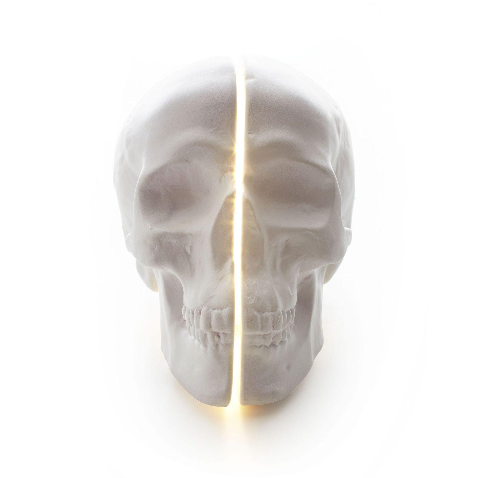 Yorick Skull Lamp, White-34720