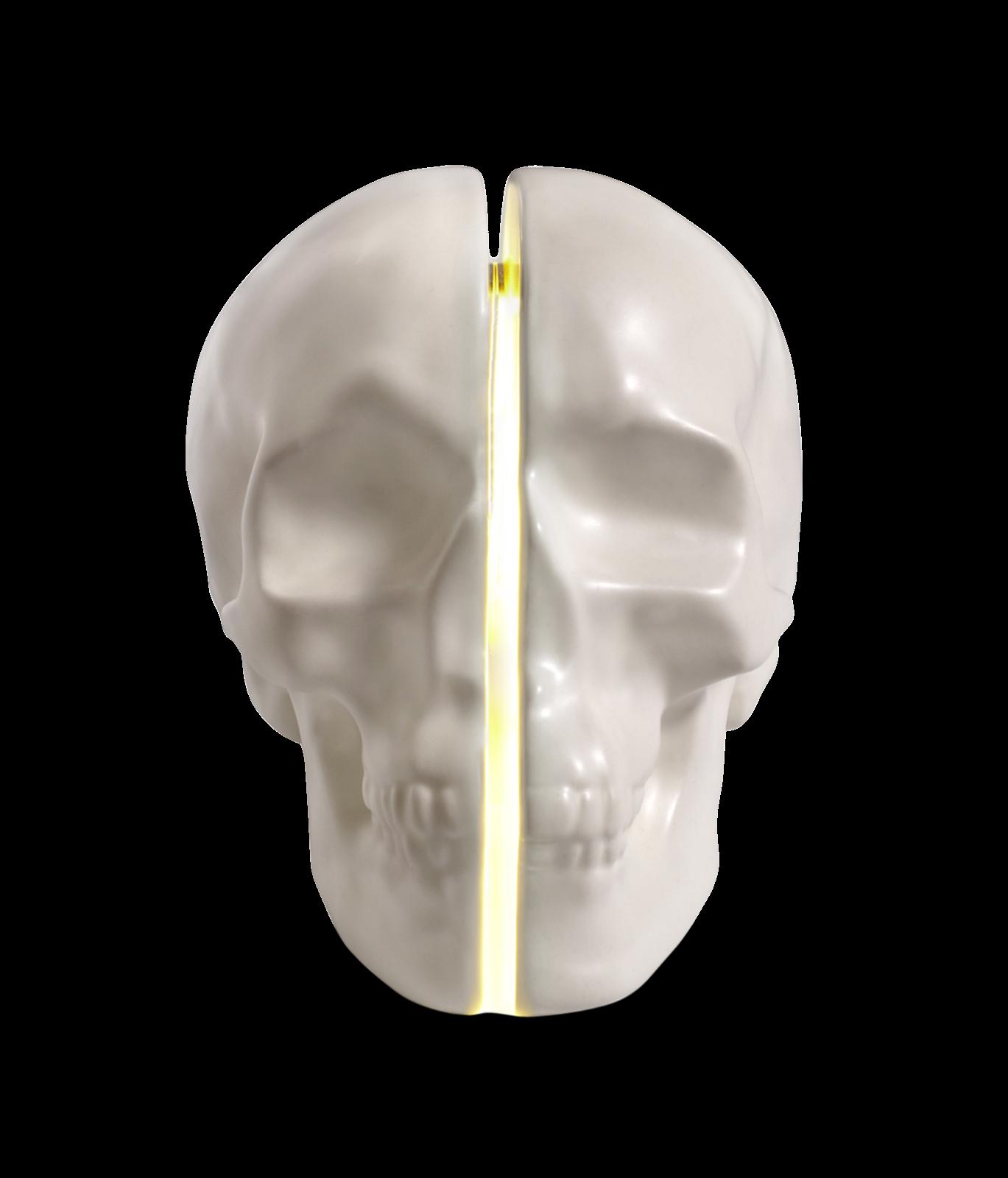 Yorick Skull Lamp, White-0