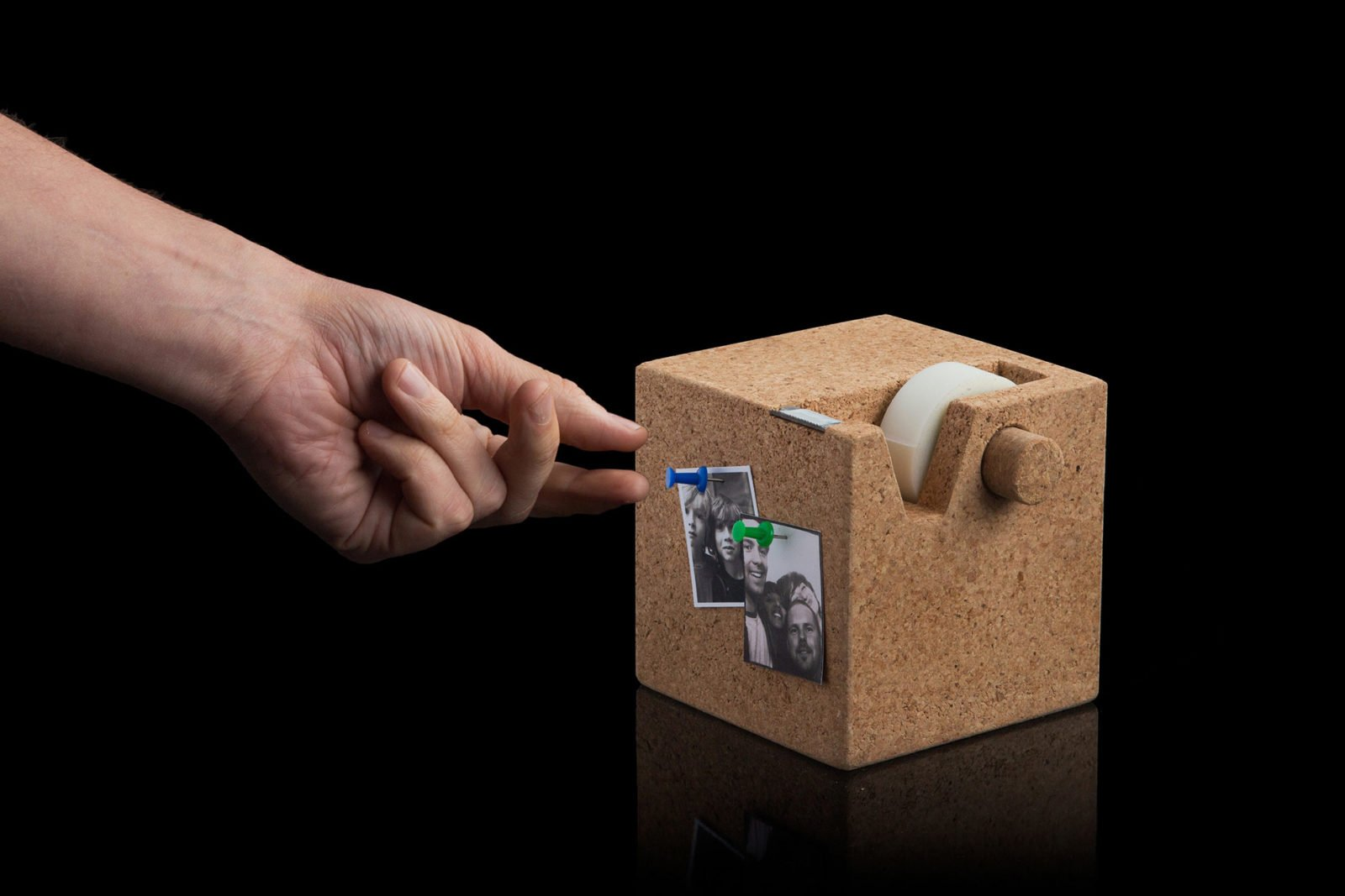 Cork Cube Tape Dispenser-29529