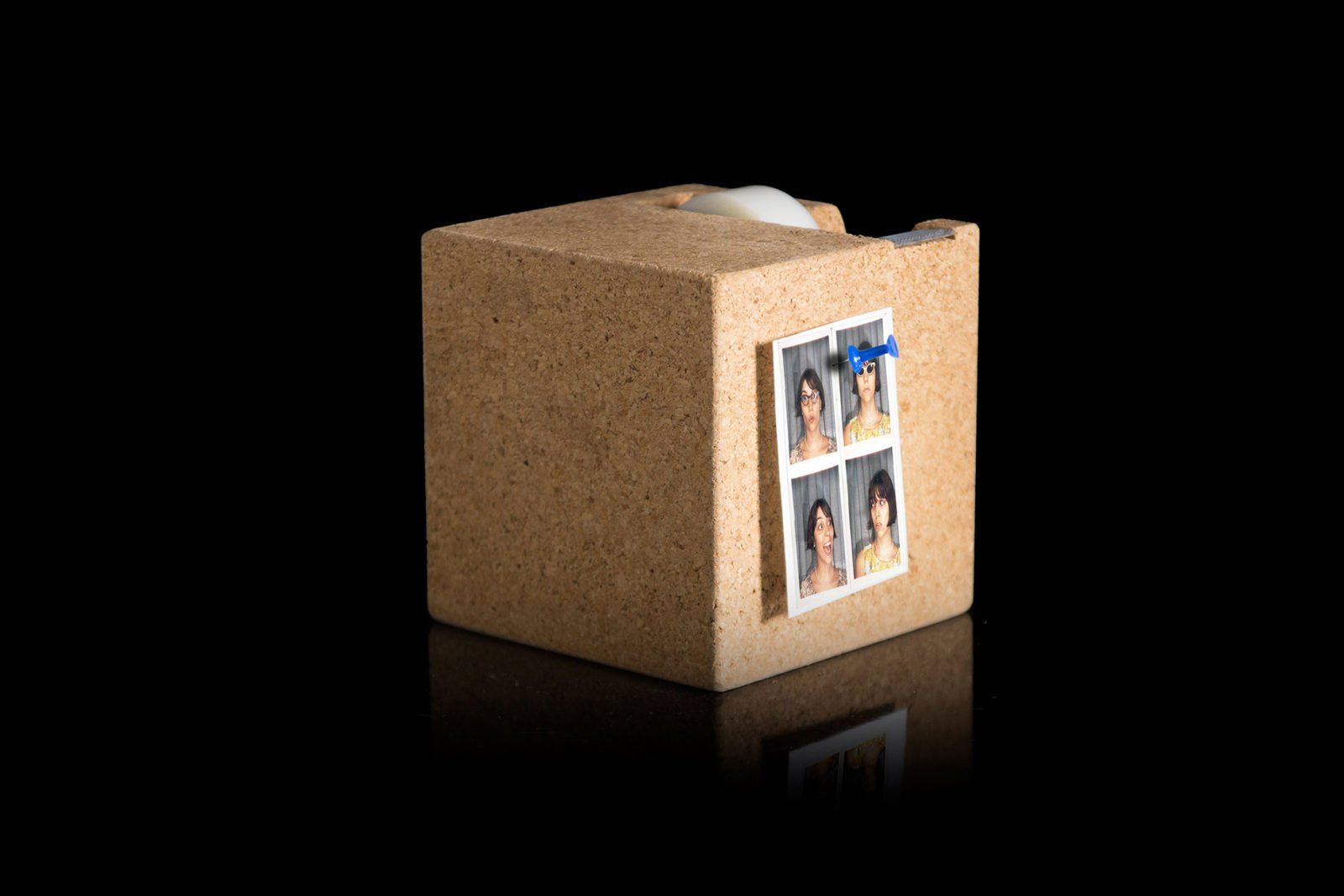 Cork Cube Tape Dispenser-29530