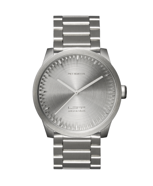 Leff Amsterdam Tube Watch S42, Stainless Steel-0